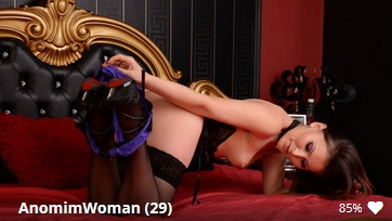 AnomimWoman, blonde slut wearing opaque Leggings, silk mini dress and lace gloves on jasmin